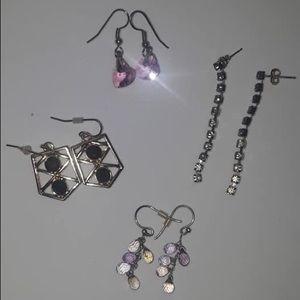 Set of 4 Vintage Earrings